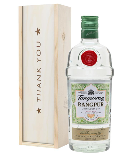 Tanqueray Rangpur Gin Thank You Gift In Wooden Box
