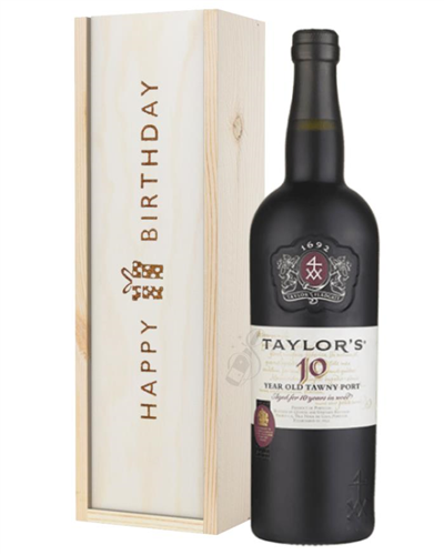 Taylors 10 Year Old Port Birthday Gift In Wooden Box