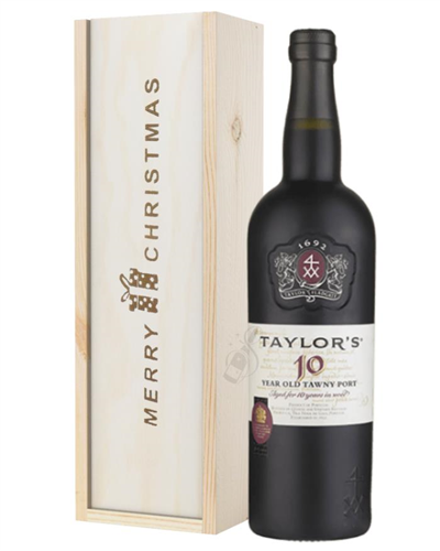 Taylors 10 Year Old Port Christmas Gift In Wooden Box