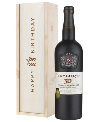 Taylors 30 Year Old Port Birthday Gift In Wooden Box