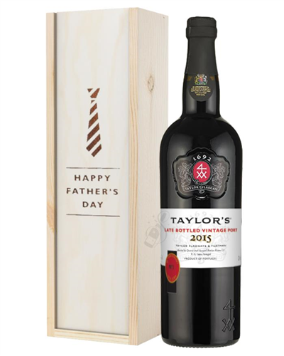 Taylors Late Bottled Vintage Port Fathers Day Gift In Wooden Box