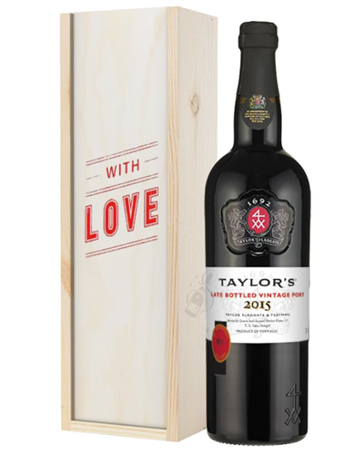 Taylors Late Bottled Vintage Port Valentines Day Gift