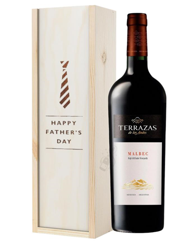 Terrazas Reserva Malbec Red Wine Fathers Day Gift In Wooden Box