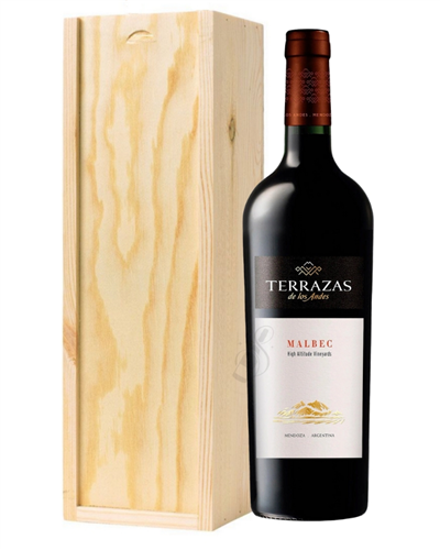 Terrazas Reserva Malbec Wine Gift in Wooden Box
