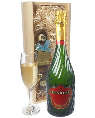 Tsarine Champagne and Chocolates Gift Set