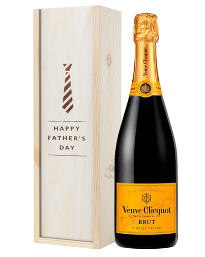 Veuve Clicquot Champagne Fathers Day Gift In Wooden Box