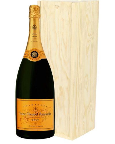 Veuve Clicquot Champagne Magnum 150cl in Wooden Gift Box