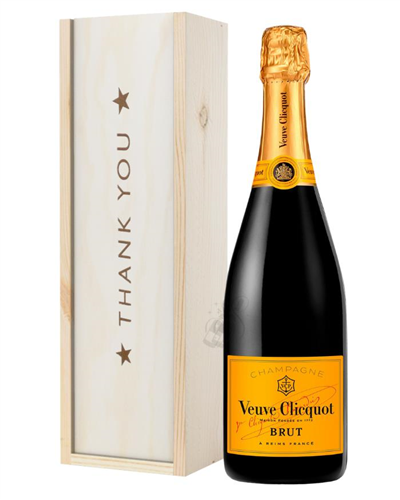 Veuve Clicquot Champagne Thank You Gift In Wooden Box