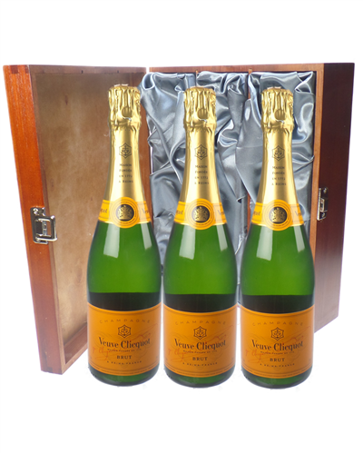 Veuve Clicquot Champagne Triple Luxury Gift