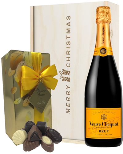 Veuve Clicquot Christmas Champagne and Chocolates Gift Box