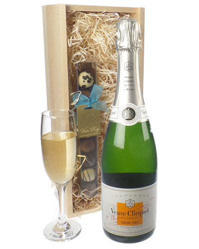 Veuve Clicquot Demi Sec Champagne and Chocolates Gift Set