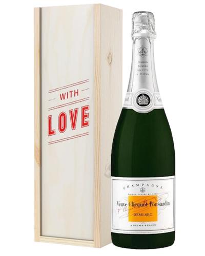 Veuve Clicquot Demi Sec Champagne Valentines Day Gift