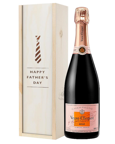 Veuve Clicquot Rose Champagne Fathers Day Gift In Wooden Box