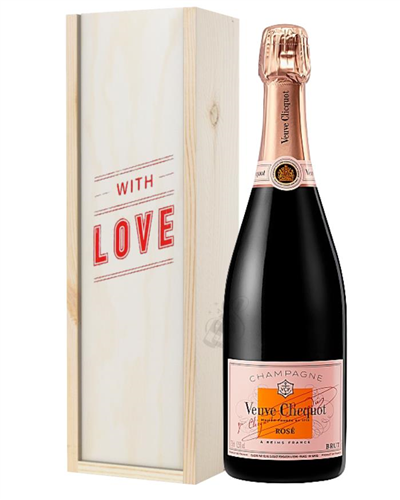 Veuve Clicquot Rose Champagne Valentines Day Gift