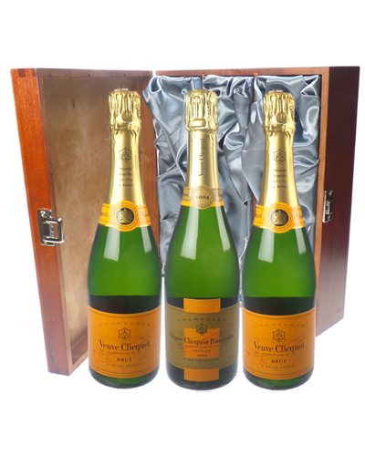 Veuve NV Champagne and Vintage Champagne Triple Luxury Gift