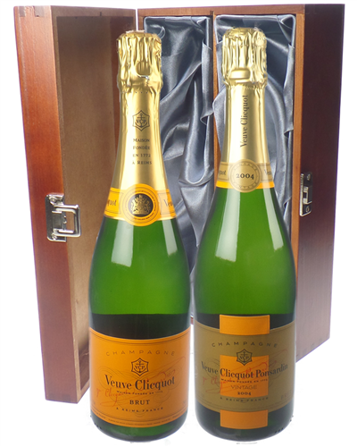 Veuve NV Champagne and Vintage Champagne Twin Luxury Gift