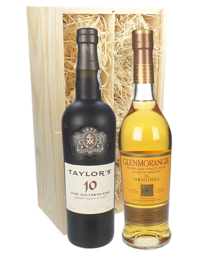 Vintage Port and Whisky Gift Set