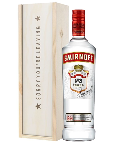 Vodka Sorry You Are Leaving Gift