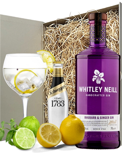 Whitley Neill Rhubarb Ginger Gin And Tonic Gift Set