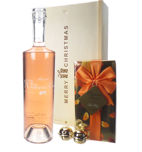 Williams Chase Rose Wine Christmas Wine and Chocolate Gift Box