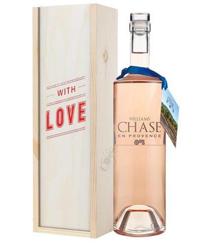 Williams Chase Rose Wine Valentines With Love Special Gift Box