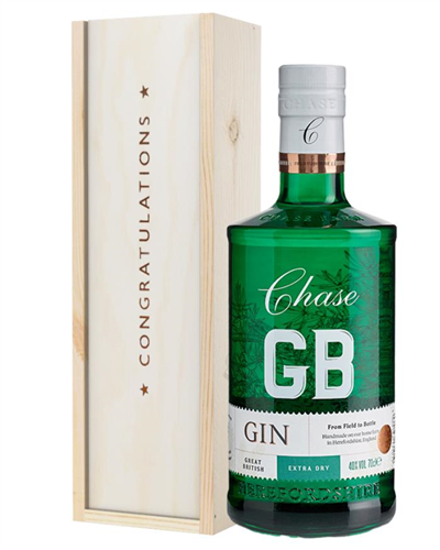 Williams GB Extra Dry Gin Congratulations Gift In Wooden Box