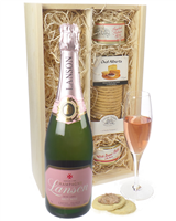 Lanson Rose Champagne and Pate Gift