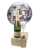 Birthday Gift - Moet Champagne - Balloon - Flute