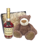 Hennessy VS Cognac and Teddy Bear