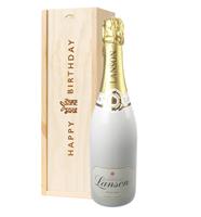 Lanson White Label Champagne Birthday Gift In Wooden Box