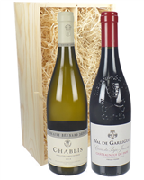 Chablis and Chateauneuf-du-Pape Mixed Twin Gift