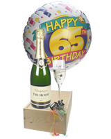 65th Birthday Champagne Flute Gift