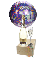 70th Birthday Prosecco And Flute Gift