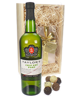 Taylors Chip Dry Port and Chocolates Gift Set in Wooden Box
