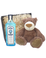 Bombay Gin And Teddy Bear Gift