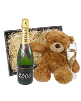 Moet et Chandon Vintage Champagne and Teddy Bear