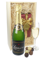 Lanson Champagne and Belgian Chocolates