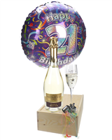 21st Birthday Prosecco And Flute Gift