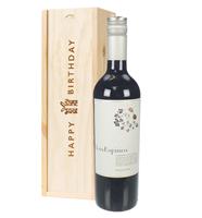 Cabernet Sauvignon Chilean Red Wine Birthday Gift In Wooden Box