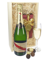 Mumm Cordon Rouge Champagne and Belgian Chocolates