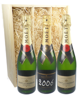 Moet NV and Vintage Three Bottle Gift