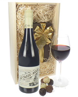 French Syrah Wine And Chocolates