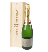 Laurent Perrier Champagne Birthday Gift In Wooden Box