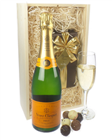 Veuve Clicquot Champagne and Belgian Chocolates