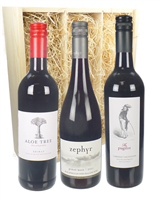 Tri-Nation Red Three Bottle Wine Gift in Wooden Box