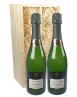 Bollinger Grande Annee Vintage Two Bottle Champagne Gift in Wooden Box