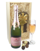 Lanson Rose Champagne and Belgian Chocolates