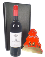 Christmas Wine And Chocolates Gift Set