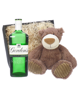 Gordons Gin and  Teddy Bear