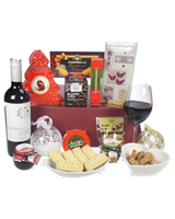 Christmas Wine And Treats Gift Basket